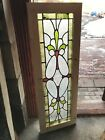 Sg 2760 stained beveled textured Glass transom window 17 x 4925