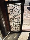 Sg 1221 Antique Beveled And Textured Glass Transom Window 18 X 4175