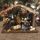 Christmas Nativity Set Scene With Baby Jesus Mary Joseph 3 Wisemen And Lamb