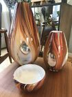 Missoni for Target Hand Blown Glass Vase Set Small Large and Bowl