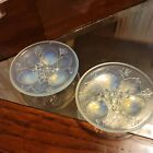 PAIR OF SABINO OPALESCENT ART GLASS VIOLET SMALL PLATE DISH