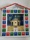 Wooden Christmas Nativity Advent Calendar Tabletop Wall Display Magnet Painted