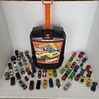 Hot Wheels 100 Car Carrying Case Storage Organizer Rolling Suitcase w 53 Cars
