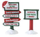 Lemax Christmas Village North Pole Signs Set of 2 New 04796