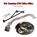Motorcycle Header Link Pipe With Mounting Bracket Set for GY6 125cc 150cc Engine