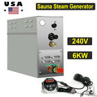 6KW 240V Sauna Steam Generator Shower Room Bath Home Spa Programmable Controller