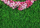 Natural Green Flowers Photography Backdrop Children Birthday Background 10x65ft