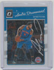 ANDRE DRUMMOND Pistons SIGNED 2016-17 Donruss Optic #104 Autograph ON CARD AUTO