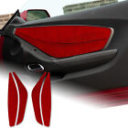 4PCS Red Front Door Panel Cover Sticker Carbon Fiber For Camaro 2010 2015