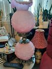 Vintage Fenton Pink GONE WITH THE WIND Lamp GORGEOUS rare htf EUC A BEAUTY