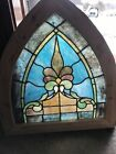 SG3617 Antique Stained Glass Arch Window 2675 X 295