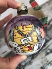 Vintage Hallmark 1991 Snoopy & Friends Peanuts GLASS BALL Christmas Ornament BOX
