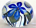 David Lotton Jumbo glass Paperweight 4 Etched signed on bottom with paper label