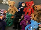 TY BEAR BEANIE BABIES-HERO,ADDISON,FUZZ,CASHEW,MILLENIUM,THE END, PRINCESS MORE