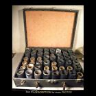 Antique Edison Columbia Cylinder Record Storage Carrying Case plus 32 Records