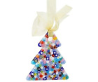 Murano Glass Christmas Tree Millefiori Holiday Ornament Made in Italy
