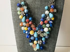 VINTAGE RARE CASCADING MURANO VENITIAN GLASS BEAD NECKLACE