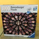 Ravensburger 1000 Pc Puzzle Rose of Notre Dame Challenge Series Stained Glass