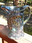 Spectacular Vintage Imperial Mayflower Peacock Carnival Glass Large Pitcher