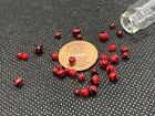 Glass Red Devil Mini Micro Marbles Worlds Smallest Handmade Miniature Marbles