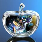 Crystal Zodiac Sign Glass Constellation Apple Paperweight Birthday Gifts 80mm