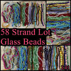 GLASS BEADS58 Strand Lot 3 12mm Round Cube Bicones Oval Cones FacetedL41