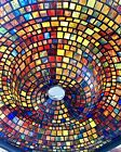 Exquisite Very Large Artist Crafted Stain Glass Art Sculpture Titled Star Gate