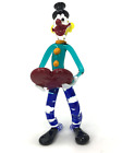 Murano Tall Glass Clown with Heart Clown Sculpture Made In Italy