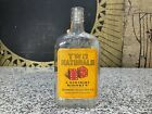 Vintage TWO NATURALS WHISKEY Gambling Dice Paper Label Glass Advertising Bottle