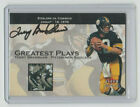 TERRY BRADSHAW Signed 2001 Fleer Premium GREATEST PLAYS Autograph ON CARD AUTO