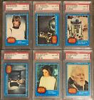 1977 Topps Star Wars First Series 1-66 Complete Set PSA Graded 8 (Blue Series)