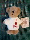 Boyds Bears Mini Message Bear - I Love You Heart T Shirt Thinkin' of Ya Series