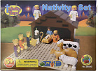 JWG Industries Nativity Scene Set Building Block Kit with 3 D Standing Cutout