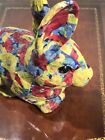 Vintage EASTER DECO RABBIT COTTONTAIL BUNNY CUSTOM GLASS EYES Nice