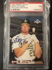 1992 Barry Colla Mark McGwire Autograph PSA 7 1st Auto 109 200 SUPER RARE!