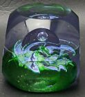 Caithness Scotland EMERALD Paperweight Limited Edition 217 of 250