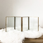 Brass and Glass Multi Photo Frame