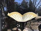 Pair Of Art Deco Torchiere Ruffled Glass Shades 2 3 4 Fitter metal insert