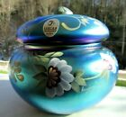 Fenton Favrene Glass Covered Puff Box Honor Collection  Limited Edition 431