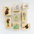 All Night Media Wizard of Oz Wooden Rubber Stamps Lovely Set of 8