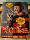 1988 Topps Fright Flicks Full CLEAN NM MT trading card Wax box 36 packs Stickers