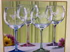 Lenox BUTTERFLY MEADOW Crystal 15 oz Wine Glass PINK Etched Bowl Clear Stem