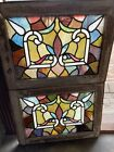 Sg 3658 Two Av Price Antique Stained Glass Window 18 X 24 1 4