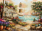Counted Cross stitch kit Cottage by the Sea Lighthouse Letistitch Leti 962
