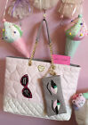 Betsey Johnson Blush Heart Tote  Glasses Pouch