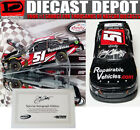 AUTOGRAPHED JEREMY CLEMENTS 2017 REPAIRABLEVEHICLESCOM WISCONSIN RACED WIN 1 24