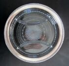 Antique Watson Sterling Silver Cut Glass Three Section Relish Dish Plate 10 1 4