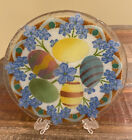 Peggy Karr Fussed Glass Easter Egg Plate Rare