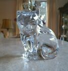 Waterford Crystal Glass Kitty Cat Sitting Looking Down Figurine Paperweight