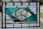 Beveled Stained Glass Window Panel Transom  24  x 14